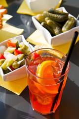 Long-drink with orange slice