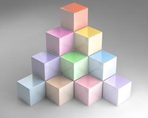 3D cubes two