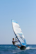 Fast approaching windsurfer