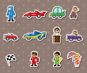 f1 car  racing stickers