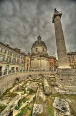Roma, colonna di Traiano e foro
