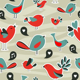 Fresh social media birds communication pattern