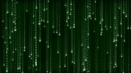 Numbers vertical motions in matrix style