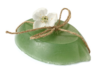 soap of handwork and apple-tree branch