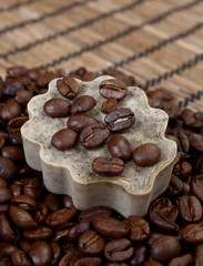 handwork and coffee soap