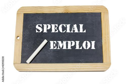 ardoise spécial emploi
