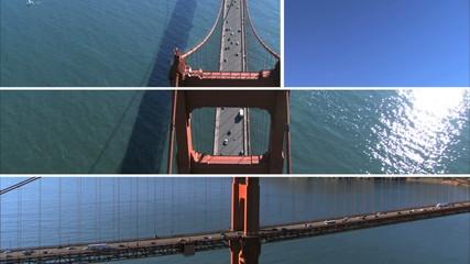 Montage Images Golden Gate Bridge, USA