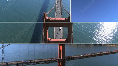 Montage Images Golden Gate Bridge, USA