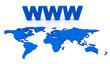 WWW World Map Globe