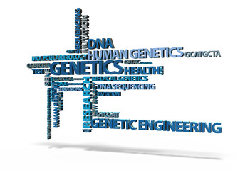 Genetics TagCloud 3D