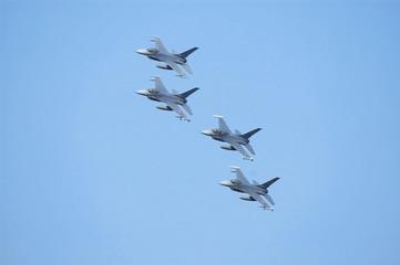 formation of warplanes