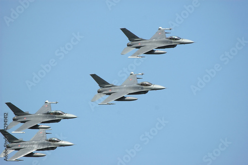 formation of warplanes