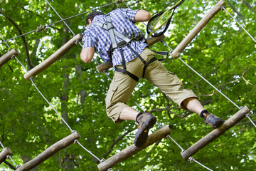 climber high rope course 1