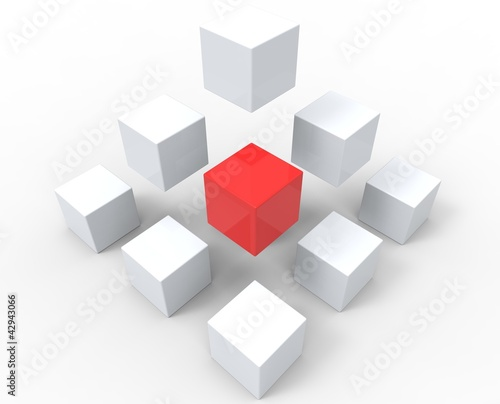 Unique Cubes Pyramid