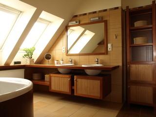 Interior of bathroom