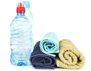 Towels and water