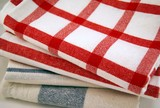 Stack of tea towels, closeup
