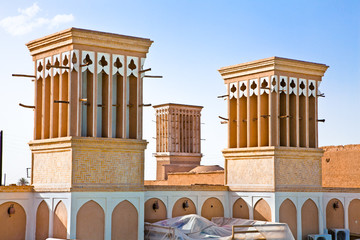 Windcatcher of an house in Yazd city