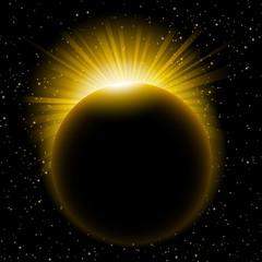 Sun beams over planet