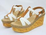 sandales à talon compensé poster