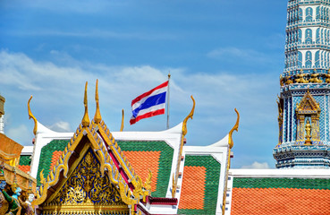 Bangkok Kings Palace with Flag