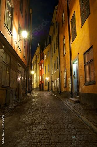 Staande foto Stockholm Nacht in Stockholm