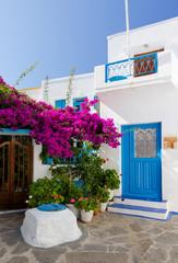 Cycladic architecture in Plaka village, Milos island, Greece