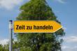 Pfeil mit Baum ZEIT ZU HANDELN