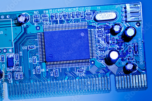 Network adapter board close-up
