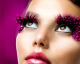 Fototapety Creative Makeup. False eyelashes