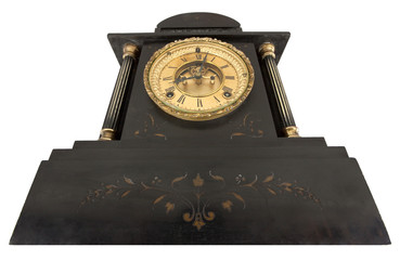Antique Clock with Roman Numerals from below