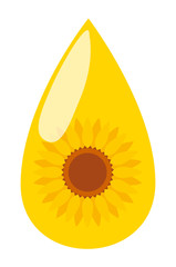 Sunflower seed oil drop vector background energy concept