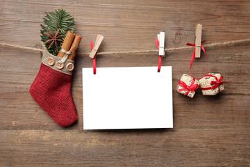 Weihnachtliches mit Zettel