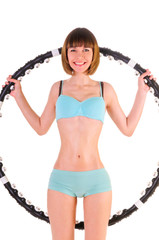 exercises with hula hoop