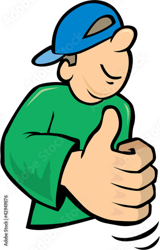 young Boy with thumbs up