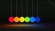 Kugelspiel animiert Spektrallicht