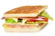 Sandwich de jamón y queso.