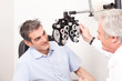Постер, плакат: Optometrist doing Sight Testing