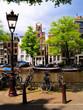 Classic Amsterdam canal scene