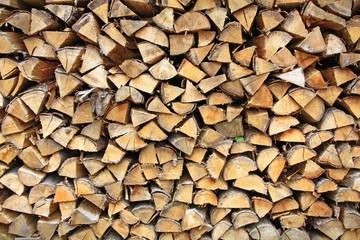 Brennholzstapel