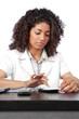 Female Doctor Using Digital Tablet