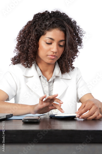 Female Doctor Using Digital Tablet
