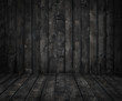 black  wooden room
