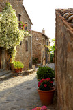 Fototapety Narrow Alley With Old Buildings In Italian City