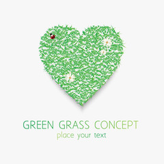 Green grass concept.Vector eps 10