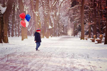 Walk with balloons