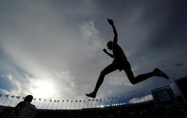 Runner Jumping Silhouette