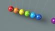 Kugelspiel animiert Regenbogen 2