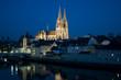 Regensburger Dom bei Nacht