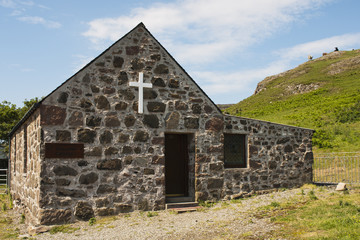 Building, Church, St. Columbas, Chapel, Canna, Inner Hebrides